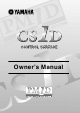 Yamaha CS1D Owner's Manual