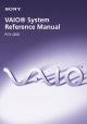 Sony PCV-J200 - Vaio Desktop Computer System Reference Manual