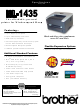 Brother 1435 - HL B/W Laser Printer Specifications