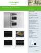 Frigidaire FGET2745KW - 27IN DBL OVEN 3RD ELEMENT CONVECTION HIDDEN BAKE COVER 8 PAS5 Product Specifications