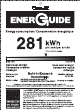 Haier DWL2825DDBB Energy Manual