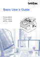 Brother IntelliFax-2840 Basic User's Manual
