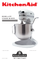 KitchenAid KSM455PSSM Instructions Manual