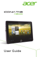 Acer ICONIA Tab A200 16GB User Manual