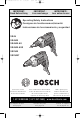 Bosch SG45 - 4500 RPM Drywall Screw Gun Operating/safety Instructions Manual