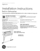 GE PDW7980PSS - 6 LEVEL 12 TOUCHPADS CONTOCONTOUR DOOR 5 Installation Instructions Manual