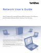 Brother DCP-8110DN Network User's Manual