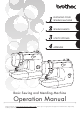 Brother LS-2125i - Basic Sewing And Mending Machine Operation Manual