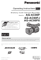 Panasonic AG-AC90 Operating Instructions Manual