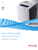 Xerox 6280N - Phaser Color Laser Printer Evaluator Manual