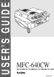 Brother MFC-640CW User Manual