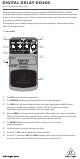 Behringer DIGITAL DELAY DD400 Manual