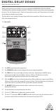 Behringer DIGITAL DELAY DD400 Manual