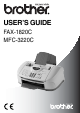 Brother FAX-1820C User's Manual