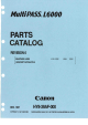 Canon MultiPASS L6000 Parts Catalog