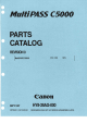 Canon MultiPASS C5000 Parts Catalog
