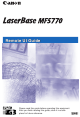 Canon LaserBase MF5770 Remote Ui Manual