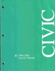 HONDA Civic Service Manual
