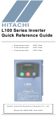 Hitachi L100 Series Quick Reference Manual