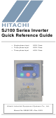 Hitachi SJ100 Series Quick Reference Manual
