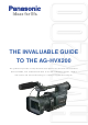 Panasonic HVX200A - Camcorder - 1080p Manual Book