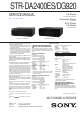 Sony STR DA2400ES - 7.1 Channel Home Theater AV Receiver Service Manual