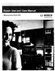 Bosch HWD Series Use And Care Manual