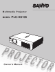 Sanyo PLC-XU105 Owner's Manual