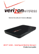 Verizon MiFi 2200 Product User Manual