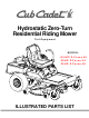 Cub Cadet 18.5HP Z-Force 42 Illustrated Parts List