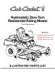 Cub Cadet 18.5HP Z-Force 42 Illustrated Parts List