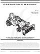 MTD OEM-190-032 Operator's Manual