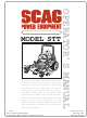 Scag Power Equipment STT Operator's Manual