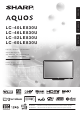 Sharp AQUOS LC-40LE830U Mode D'emploi