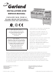 Garland S680 SERIES Installation And Service Manual