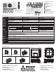 Mitsubishi Electric UD8400U Specification