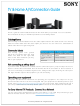 Sony TV & Home A/V Connection Manual