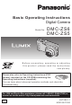 Panasonic Lumix DMC-ZS5 Basic Operating Instructions Manual