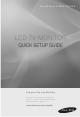 Samsung SyncMaster 933HD Quick Setup Manual