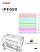 Canon imagePROGRAF iPF650 User Manual