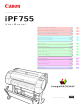 Canon imagePROGRAF iPF755 User Manual