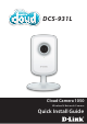 D-Link Cloud Camera 1050 Quick Install Manual