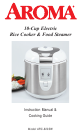Aroma ARC-820SW Instruction Manual & Cooking Manual