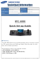 Samsung SPC-6000 Quick Setup Manual