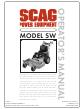Scag Power Equipment SW Operator's Manual