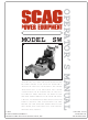 Scag Power Equipment SW Operator's Manual