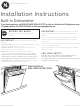 GE ADT521PGFWS Installation Instructions Manual