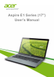 Acer Aspire E1-731G User Manual