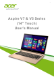 Acer Aspire V5-452PG User Manual