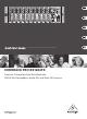 Behringer EURORACK PRO RX1202FX Quick Start Manual